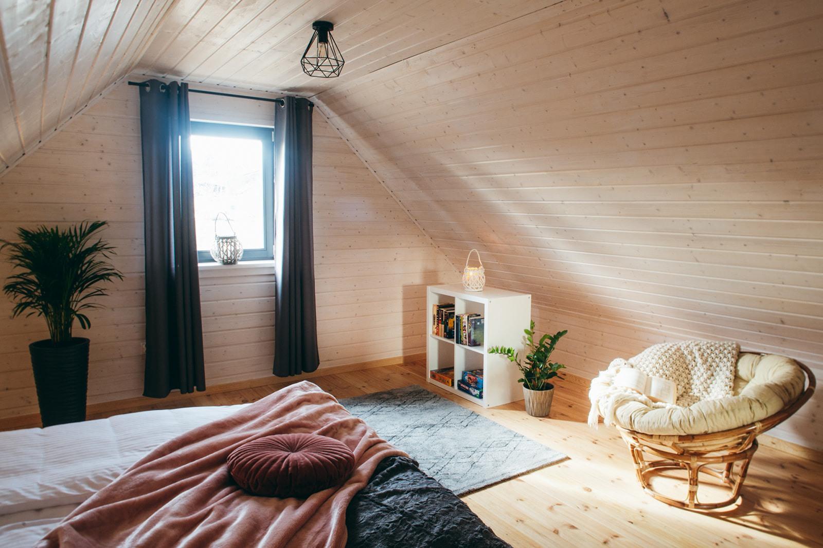 Domki nad Jeziorem Żywieckim, wnętrze, sypialnia duża widok 2